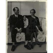 1935 Press Photo Mr. and Mrs. John Boettiger - cvb00212