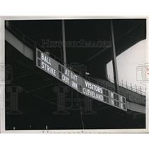 1950 Press Photo New outfield Stadium scoreboards - cva95757