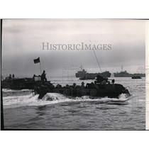 1950 Press Photo 1st Marine Division head for Blue Beach Inchon Harbor Korea