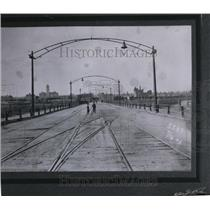 1903 Press Photo Old Monroe St. Bridge looking n. toward north - spa00442