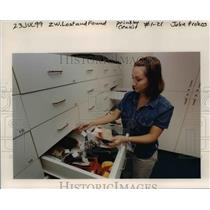 1999 Press Photo Portland International Airport- Lost and Found - orb43676