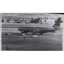 1961 Press Photo Hijacked Continental Airlines at El Paso International Airport