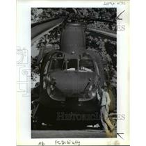 1991 Press Photo Fort Vancouver-Bryce Lister-Chinook helicopter - orb78534