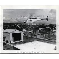 1970 Press Photo Portland's Third rooftop, heliport. - orb74473