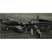 1946 Press Photo Airplanes Maston Navigation Just Before Takeoff Time Portland