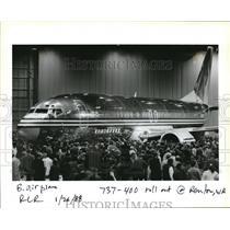 1988 Press Photo 737-400 roll out at Renton WA - orb14334