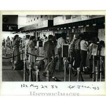 1984 Press Photo Crowded Portland International Airport needing expansion
