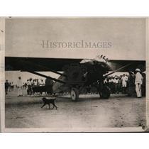 1929 Press Photo Pride of Detroit at Royal Air Force Aerodrome J V Richardson