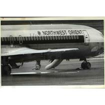 1983 Press Photo Passengers escape from hijacked jetliner - ora98680