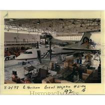 1998 Press Photo Horizon Airlines Jet In Hangar - ora99096