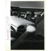 1981 Press Photo Rocky Kolberg with Small Plane/Airplane - ora50137