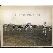 1928 Press Photo Lacrosse match between Harvard vs Yale at Cambridge MA Yale won