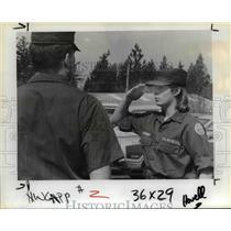 1985 Press Photo Civil Air Patrol Cadet Master Sgt Kenneth Van Winkle of Tigard.
