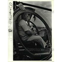 1984 Press Photo Hamilton prepares to lift off in his Hughes 300 - orb15045