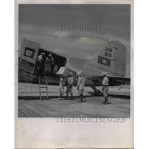 1950 Press Photo The United Nation's own DC-3 plane - orb24845