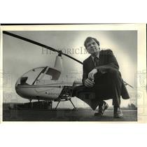 1984 Press Photo Terry Trimble Founded Airmans Proficiency Center Hillsboro Airp