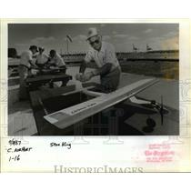 1987 Press Photo Stan King, president of the Portland Area Model Aircraft Ass.