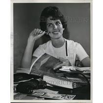 1963 Press Photo Portland International Airport Hostess, Jill McCleave