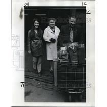 1970 Press Photo Cecillia Lingelbach with George Lingelbach & Betty at Portland