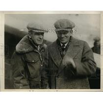 1930 Press Photo George Haldeman & Eddie Stinson Pilots Attempting World Record