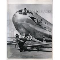 1949 Press Photo British Overseas Airways Stratocruiser at Seattle WA