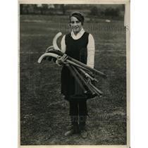 1929 Press Photo Dorothy Hucknall captain of Temple University Girls Hockey Team