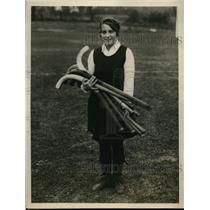 1927 Press Photo Dorothy Hucknall captain of Temple University Girls Hockey Team