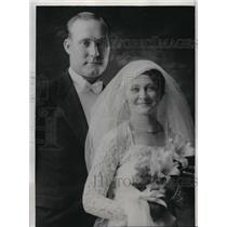 1934 Press Photo Charles Ruffing Yankees Pitcher and bride Pauline Molholland