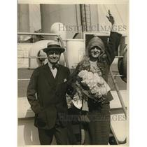 1923 Press Photo Mr. and Mrs. Melvin Dalberg Sailed For Canferences Abroad
