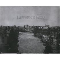 1909 Press Photo Monroe St Bridge in 1909 - spx01497