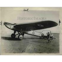 1929 Press Photo Jones Williams & Lt NH Jenkins in Fairey monoplane - neb39699