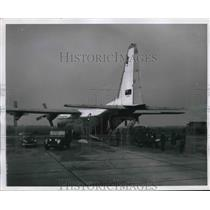 1982 Press Photo Royal Canadian Air Force C-130 Hercules in West Germany