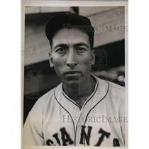 1934 Press Photo John J Leonardo NY Giants training at Ft Myers Florida