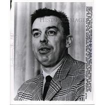 1967 Press Photo LA Lakers new coach Bill Breda Kolff in Los Angeles - nes44466