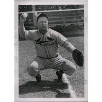 1937 Press Photo Paul Chervinko catcher at Cardinals spring training in Daytona