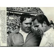 1972 Press Photo Dolphin Coach Don Shula Congratulated by Colts John Sandusky