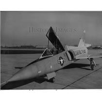 1958 Press Photo Two-place Convair F-106B, US Air Force all-weather interceptor