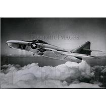 1956 Press Photo Grumann F-9P, fastest jet fighter-photo aircraft - spx03416