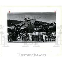 1988 Press Photo Sentimental Journey restored WWII B17 Flying Fortress bomber