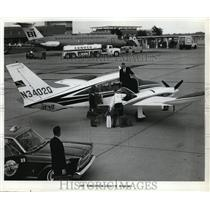 1966 Press Photo Cessna Airplane Turbo System Executive Skynight - ney01109