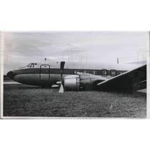 1957 Press Photo A passenger airplane that made a belly landing - neb66186