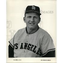 1965 Press Photo Eli Grba of Los Angels Angels - cvs03504