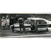 1979 Press Photo Keneth N Seary no gear landing  - spx03087