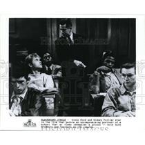 1920 Press Photo Blackboard Jungle Glenn Ford, Sidney Poitier  - cvp74655