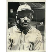 1931 Press Photo John Heving Utility Catcher for Philadelphia Athletics