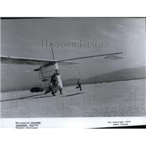 1979 Press Photo Man-powered Gossamer Albatross, English Channel challenger