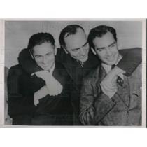 1937 Press Photo Dick Merrill,Eddie Rickenbacker and John S. Lambre - neb66905