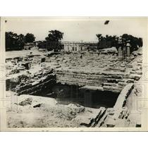 1929 Press Photo Excavated XIII Dynasty Temple of Madamud in Egypt - ney01766