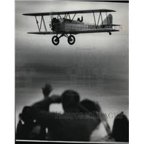 Press Photo Restored Biplane Swallow has made 244 mile flight Pasco to Boise