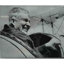 1968 Press Photo Bill Hackbarth tests controls of his DeHavilland DH4